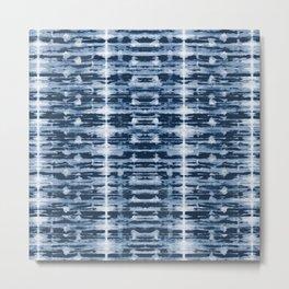 X-Ray Shibori Stripes Metal Print