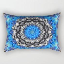 Ice Petals Mandala Rectangular Pillow