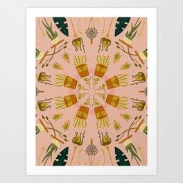 Houseplant Mandala Art Print