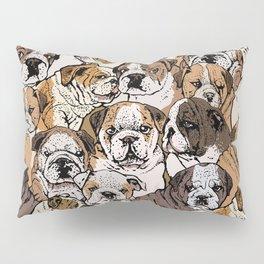 Social English Bulldog Pillow Sham