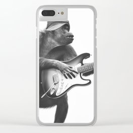 Groovy Gorilla Clear iPhone Case