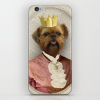 brussels iPhone & iPod Skins featuring Queen of Brussels by The Lonely Pixel