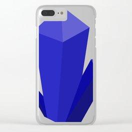 Beautiful Blue Gems Clear iPhone Case