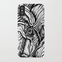 pig iPhone & iPod Cases featuring Pig by Rebexi