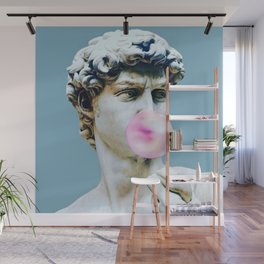 The Statue of David (Michelangelo) with Bubblegum Wall Mural