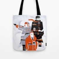 fargo Tote Bags featuring Fargo TV Series Poster by Take Heed