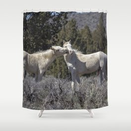 Wild Horses with Playful Spirits No 2 Shower Curtain