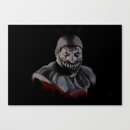 Twisty the Clown - iPad painting Canvas Print