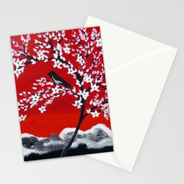Crimson and Black Stationery Cards