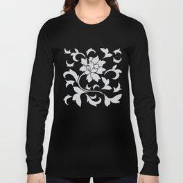 Oriental Flower - Silver Long Sleeve T-shirt