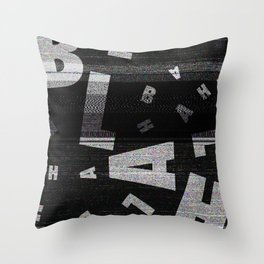 BLAH - Typography Throw Pillow