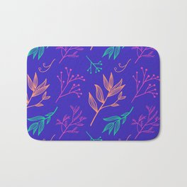 Botanical hand drawn pattern 8 Bath Mat