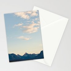 Glacier Mountains at Sunset Stationery Cards