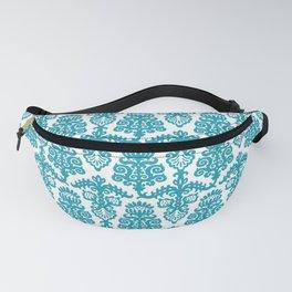 Floral Pattern Cerulean Blue Fanny Pack