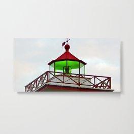 Green Lantern Reflection Metal Print