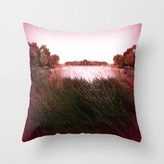 Manu Island Summer Throw Pillow