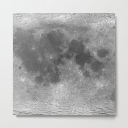 Planet surface — Moon Metal Print