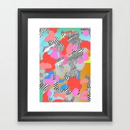 Zebra Chaos Framed Art Print