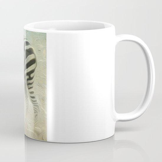 Zebra grazing Mug