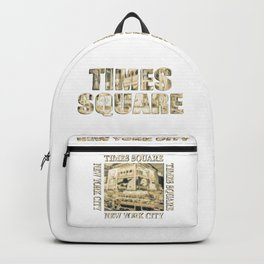 Times Square New York City (golden glow on white) Backpack