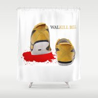 kill bill Shower Curtains featuring Walkill Bill by Davann Creations