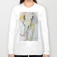 boho Long Sleeve T-shirts featuring Boho Elephant by Maya Antoni