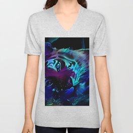 Blacklight Tiger Dreams Unisex V-Neck