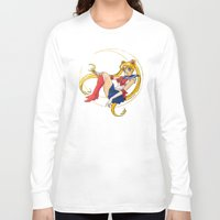 sailor moon Long Sleeve T-shirts featuring Sailor Moon by Brittany Ketcham