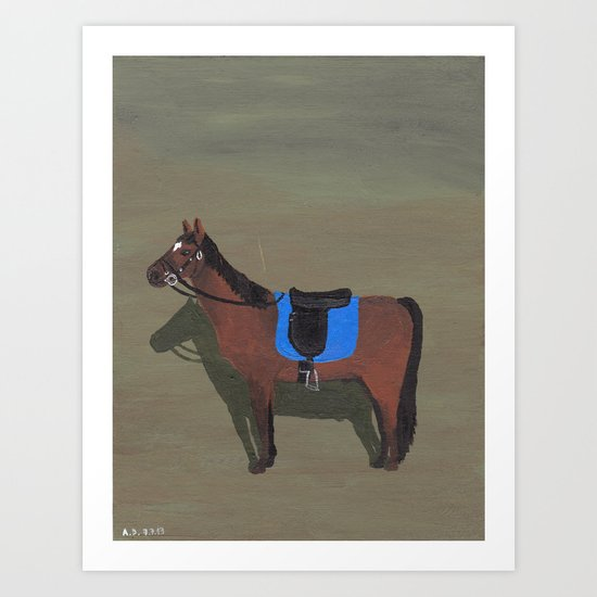 Old Brown Horse Art Print