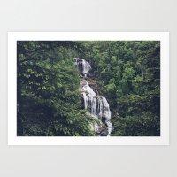 Upper White Water Falls Art Print
