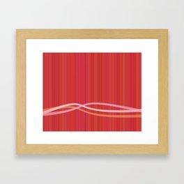 Strawberry Waves Framed Art Print