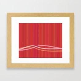 Strawberry Waves Framed Art Print