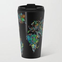 world map feathers mandala Travel Mug