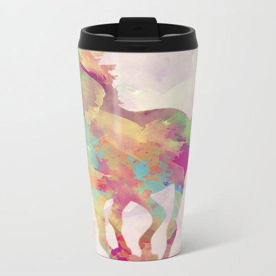 Abstract horse Metal Travel Mug