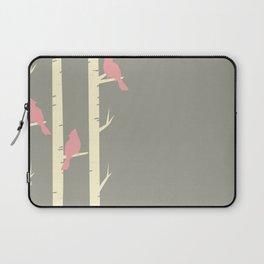 Bird Neck Gator Birch Tree Pink and Gray Birds Bird Laptop Sleeve