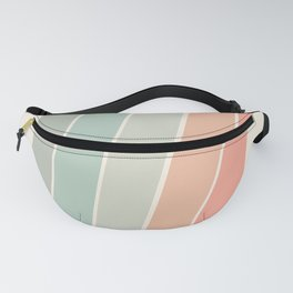 Trippin' - retro 70s socal minimal striped abstract art california surfing vintage Fanny Pack