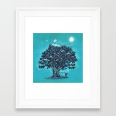 Deep Tree Diving  Framed Art Print