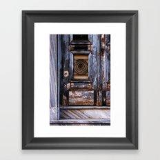 Old door Framed Art Print