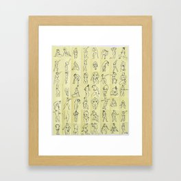 Naked ladies Framed Art Print
