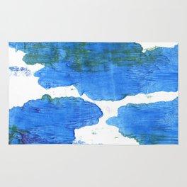 Bleu de France abstract watercolor Rug