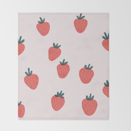 Strawberries Throw Blanket