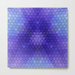 Purple Mermaid Tail Shimmering Abstract Print Fish Tail Purple Mermaid Scales Metal Print