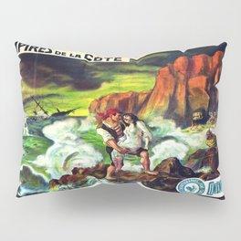 Vintage poster - Les Vampires de la Cote Pillow Sham