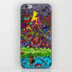 the scuba diver iPhone & iPod Skin