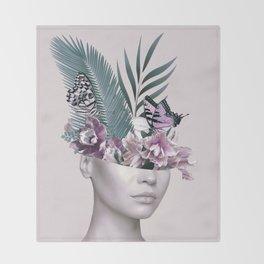 Tropical Girl 3 Throw Blanket