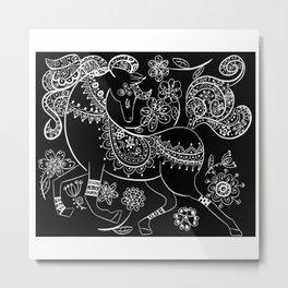 Prancing Horse Metal Print