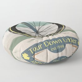 Tour Down Under Bike Race Floor Pillow