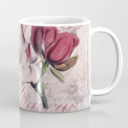 Vintage Magnolia flower illustration Coffee Mug