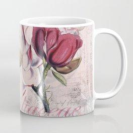 Vintage Magnolia flower illustration Coffee Mug