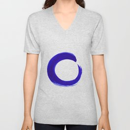 Enso Serenity No.6l by Kathy Morton Stanion Unisex V-Neck
